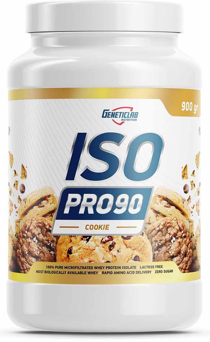 Изолят Geneticlab Nutrition  Iso Pro 90 , печенье, 900 г - Протеины