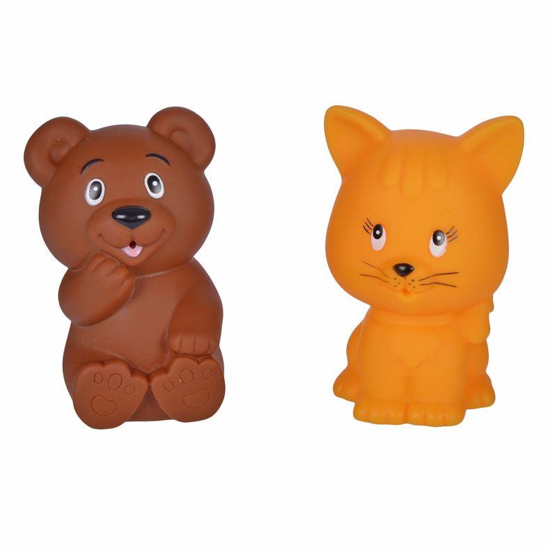 Жирафики Набор игрушек для ванной Мишка и котенок игрушки для ванны tolo toys набор ведерок квадратные
