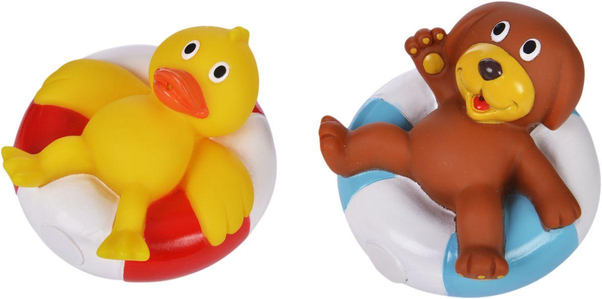 Жирафики Набор игрушек для ванной Утенок и щенок игрушки для ванной пома набор игрушек лесной домик