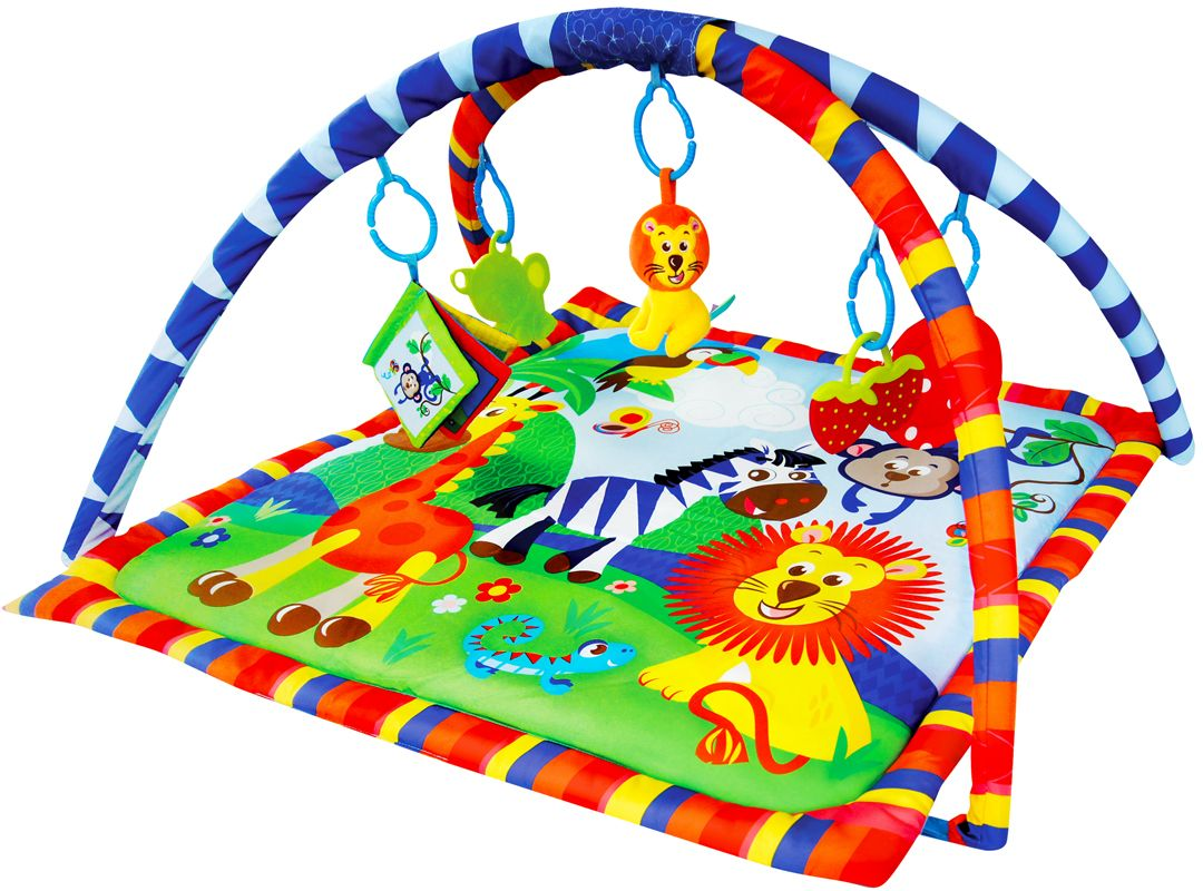 Жирафики Развивающий коврик Веселое сафари