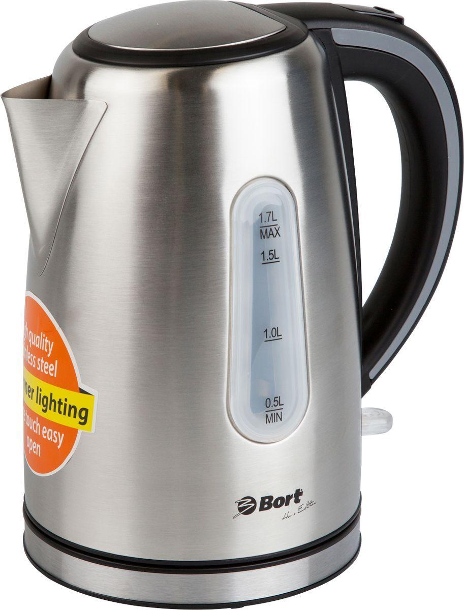 Bort BWK-2117M, Grey Metallic электрический чайник чайник bort bwk 2017p