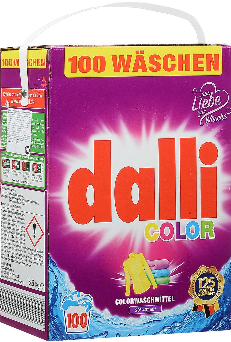 Стиральный порошок Dalli Колор, для цветного белья, на 100 стирок, суперконцентрат, 6,5 кг527946Стиральный порошок Dalli Колор - концентрированный стиральный порошок для цветных и белых тканей, не требующих отбеливания, с формулой сохранения цвета и защиты волокон, хорошо растворяется, не требуется замачивания. Не содержит фосфатов, не требует дополнительных средств от извести. Идеально подходит для ручной стирки при температуре от 30°С до 60°С. Порошок придает белью и одежде приятный аромат удивительной свежести. Состав: менее 30% цеолит, 5-15% неанионные тензиды, анионные тензиды, более 5% фосфанаты, полукарбоксилаты.Уважаемые клиенты! Обращаем ваше внимание на то, что упаковка может иметь несколько видов дизайна. Поставка осуществляется в зависимости от наличия на складе. Товар сертифицирован.