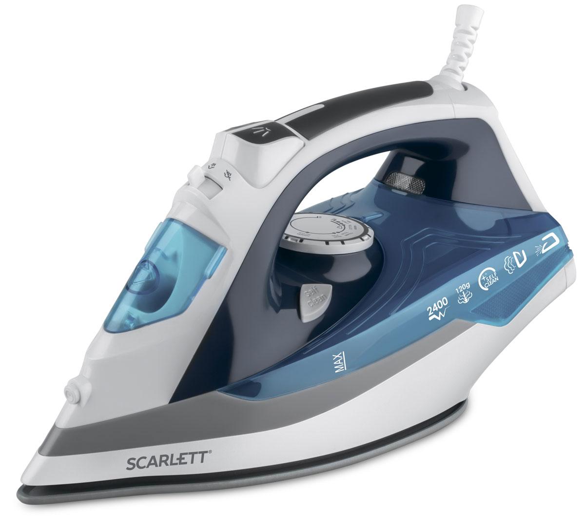 Scarlett SC-SI30P06 утюгSC-SI30P06Утюг Scarlett SC-SI30P06 облегчает уход за одеждой и приятно удивит вас своими возможностями. Подошва утюга с керамическим покрытием обеспечивает идеальное скольжение и избавит ваши вещи даже от самых сложных складок.Прибор обладает всеми необходимыми функциями для отличного результата: классический режим сухого глажения, отпаривание с регулировкой, функция разбрызгивания, возможность вертикального отпаривания. Модель оснащена функциями парового удара и самоочистки, а также системой анти-капля и анти-накипь. Уровень подачи пара регулируется. Индикатор нагрева напомнит вам, что прибор включен. Прорезиненная ручка устройства обеспечивает удобство использования. Сетевой шнур крепится при помощи шарового механизма, что не позволяет ему запутаться во время эксплуатации. В комплект входит мерный стаканчик для залива воды.