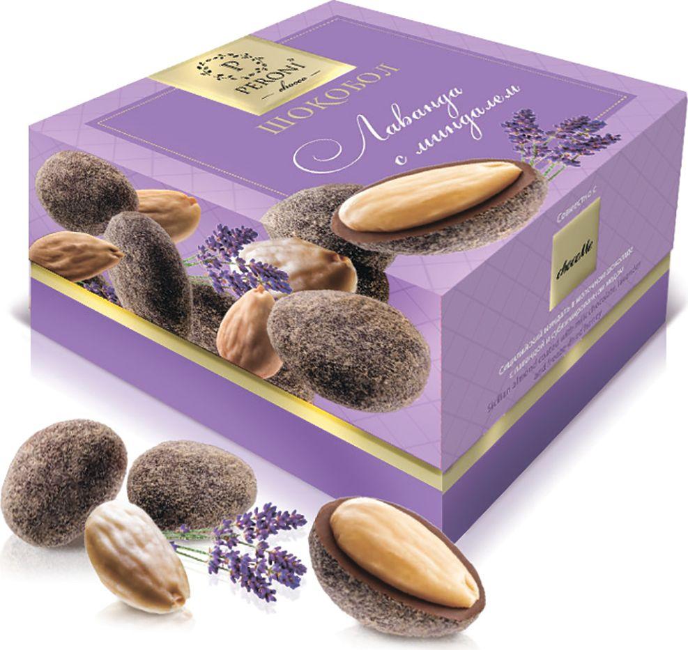 Peroni шокоболы лаванда с миндалем, 100 г волшебница золотой орех шоколад темный с миндалем 190 г