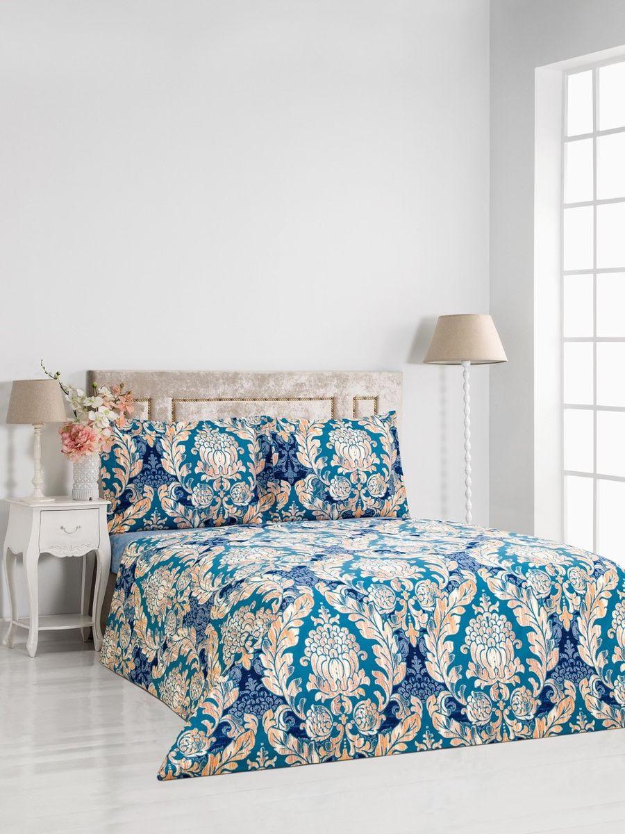 Комплект постельного белья Сlassic by T Линц, 1,5-спальный, наволочки 50x70, цвет: синий