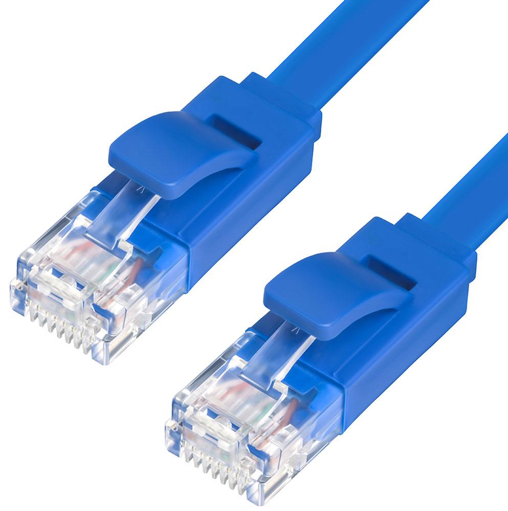 Greenconnect GCR-LNC111 патч-корд (5 м)GCR-LNC111-5.0mВысокотехнологичный современный патч-корд Greenconnect GCR-LNC111 используется для подключения к интернету на высокой скорости. Подходит для подключения персональных компьютеров или ноутбуков, медиаплееров или игровых консолей PS4 / Xbox One, а также другой техники и устройств, у которых есть стандартный разъем подключения кабеля для интернета LAN RJ-45. Соответствие сетевого патч-корда Greenconnect GCR-LNC111 современному стандарту UTP Cat5e обеспечивает возможность подключения к интернету со скоростью до 1 Гбит/с. С такой скоростью любимые фильмы будут загружаться меньше чем за полминуты, а музыка - мгновенно. Внутренние провода коммутационного кабеля Greenconnect сделаны из качественной бескислородной меди высокой степени очистки, что обеспечивает высокую скорость соединения, стабильную передачу данных и возможность использовать патч-корд Greenconnect GCR-LNC111 для создания надежной домашней или рабочей локальной сети. Ультраплоский патч-корд Greenconnect GCR-LNC111 идеально подходит для скрытого монтажа, прокладки под ковром или плинтусом.Также, благодаря технологии UltraSlim от Greenconnect, патч-корд очень компактен, его легко и удобно использовать с ноутбуком и брать с собой.