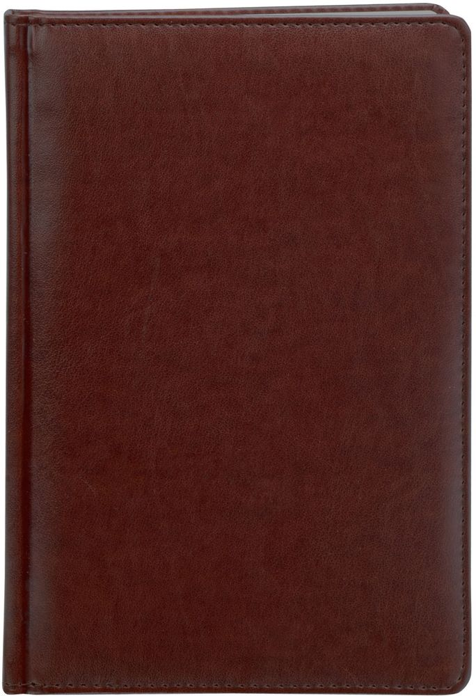 Index Ежедневник Avanti недатированный 336 листов цвет коричневый формат А5IDN117/A5/BRНедатированный ежедневник Index Avanti формата А5 изготовлен из высококачественной искусственной кожи с тиснением. Обложка с поролоновой прослойкой и прострочкой по периметру. Внутренний блок - белая офсетная бумага плотностью 70 г/м2, двухцветная печать. Переплет - твердый, каптал, ляссе. Дополнительные разделы: справочно-информационный блок, телефонно-адресная книга.