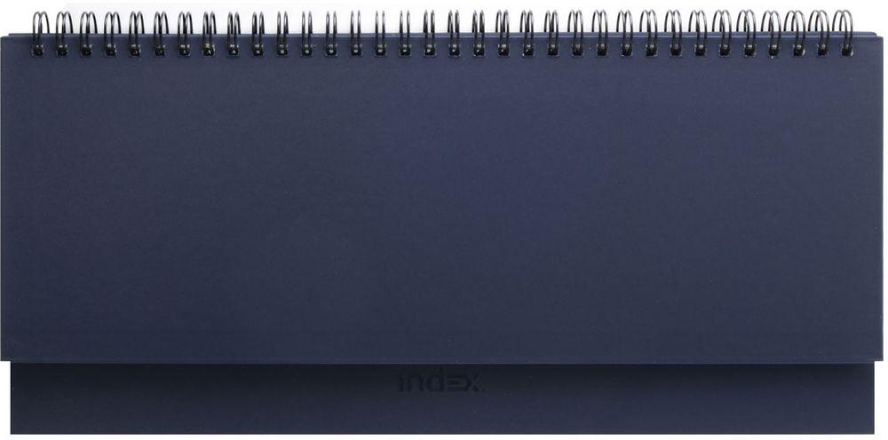 Index Планинг Basic 64 листа цвет темно-синийIPN115/DBПланинг Index Basic в твердой обложке на гребне. Внутренний блок содержит 64 белых листа из офсетной бумаги плотностью 70 г/м2, цветная печать. Разворот - одна рабочая неделя. Имеется справочно-информационный блок.