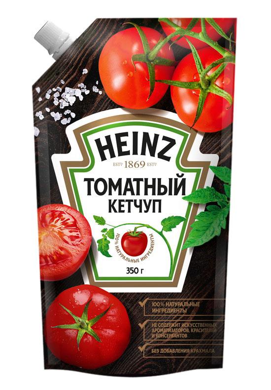 Heinz кетчуп Томатный, 350 г79000179Кетчуп Heinz - самый знаменитый кетчуп в мире. Он выпускается уже 140 лет и остается неизменно популярным благодаря высочайшему качеству натуральных ингредиентов, густой консистенции и насыщенному вкусу томатов.В состав кетчупа Heinz входят только натуральные ингредиенты: томаты, соль, сахар, натуральный уксус и специи. Heinz не содержит и не будет содержать красителей, консервантов и крахмала.Уважаемые клиенты! Обращаем ваше внимание на то, что упаковка может иметь несколько видов дизайна. Поставка осуществляется в зависимости от наличия на складе.