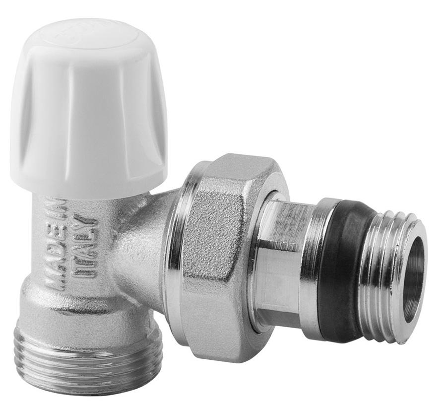 Вентиль радиаторный ICMA, 1/2, без ручки, с антипротечкой, угловой82805AD06 940