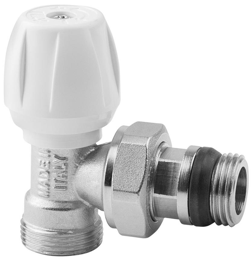 Вентиль радиаторный ICMA, 1/2, с ручкой, с антипротечкой, угловой82803AD06 940