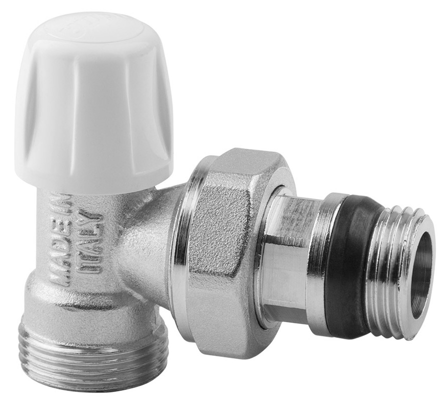 Вентиль радиаторный ICMA, 3/4, без ручки, с антипротечкой, угловой82805AE06 940