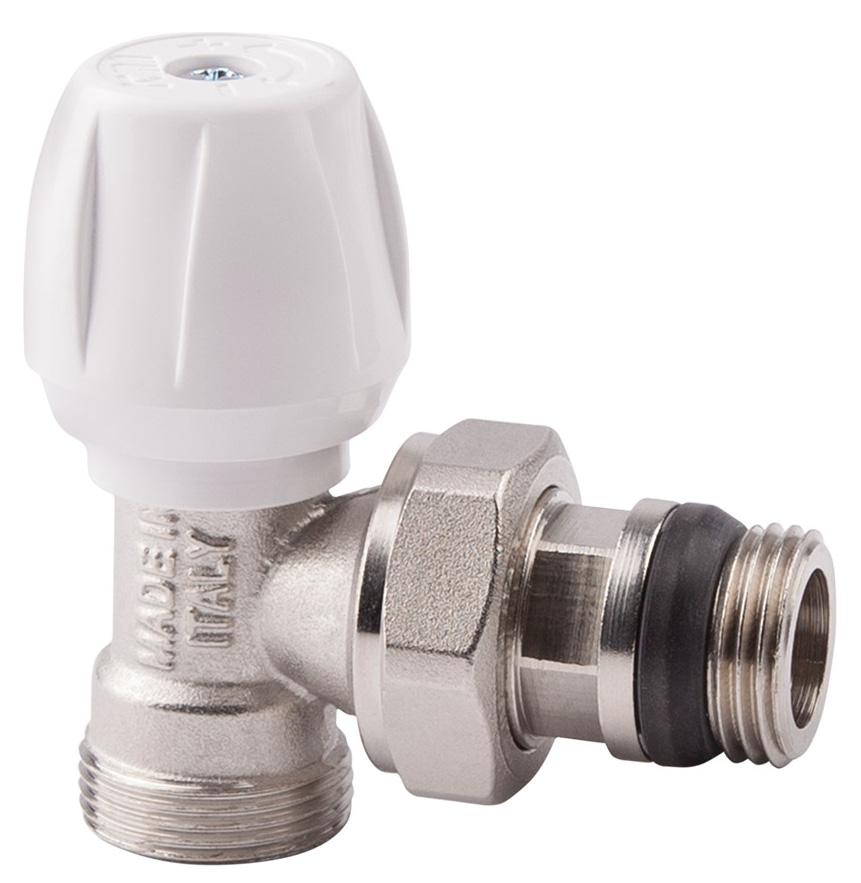 Вентиль радиаторный ICMA, 3/4, с ручкой, с антипротечкой, угловой82803AE06 940