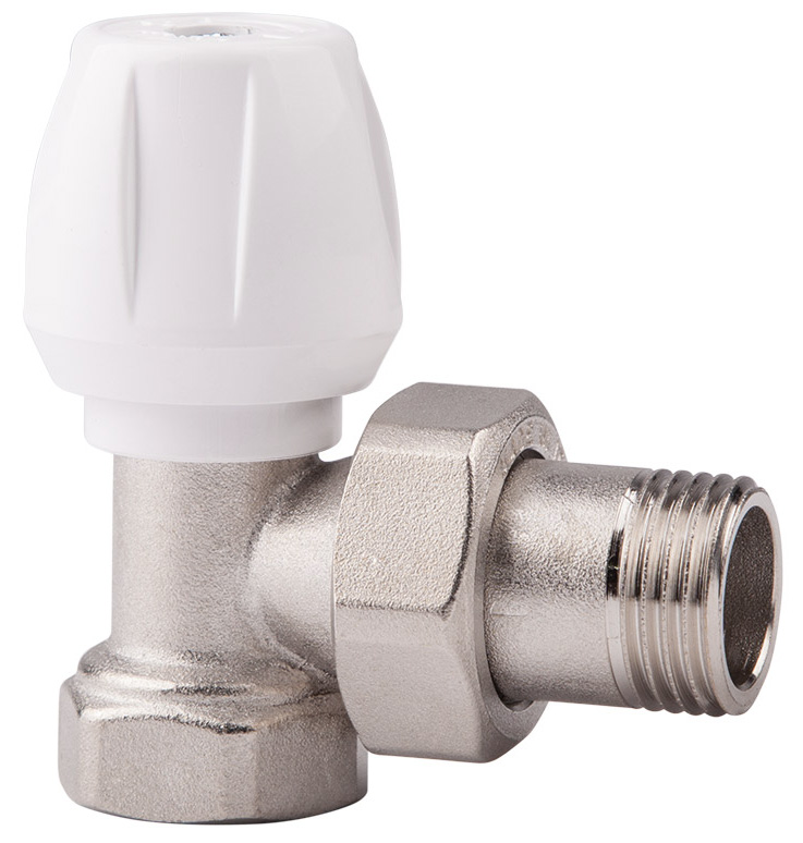 Вентиль ручной регулировки ICMA, угловой, резьба 3/482803AE06Ручной вентиль ICMA предназначен для регулировки теплового режима отопительного прибора путем изменения количества теплоносителя от нуля до величины, которая определена данным настроечным вентилем. Такой принцип регулирования позволяет производить плавную регулировку и снижать шумы, возникающие в системе отопления при движении теплоносителя.
