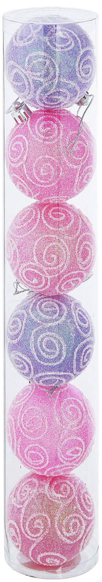 Набор новогодних подвесных украшений Sima-land Волшебство. Узоры, диаметр 6 см, 6 шт. 1009361 набор пасхальных подвесок sima land зайчик в скорлупе 6 см 3 шт