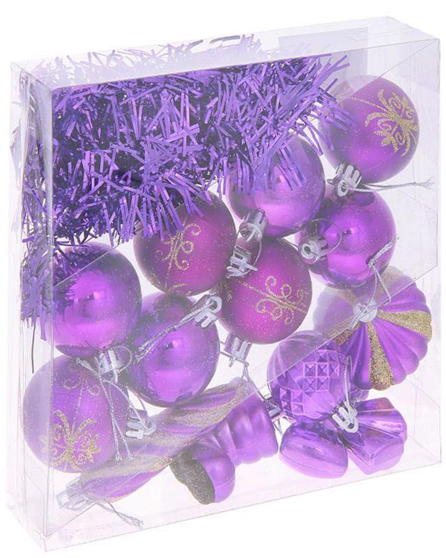 Набор новогодних подвесных украшений Sima-land Фиолетовый, 14 шт1009423Набор новогодних подвесных украшений Sima-land изготовлен из пластика. Изделия имеют плотный корпус, поэтому не разобьются при падении.Невозможно представить нашу жизнь без праздников! Новогодние украшения несут в себе волшебство и красоту праздника. Создайте в своем доме атмосферу тепла, веселья и радости, украшая его всей семьей.В наборе 14 украшений.