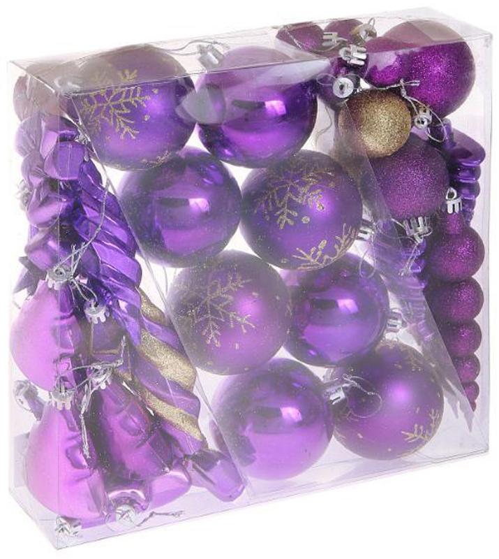 Набор новогодних подвесных украшений Sima-land Фиолетовый, 35 шт1009427Невозможно представить нашу жизнь без праздников! Мы всегда ждём их и предвкушаем, обдумываем, как проведём памятный день, тщательно выбираем подарки и аксессуары, ведь именно они создают и поддерживают торжественный настрой.
