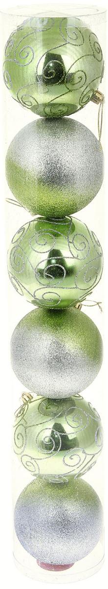 Набор новогодних подвесных украшений Sima-land Звездная дорожка, диаметр 10 см, 6 шт кармашки на стену sima land люблю школу цвет красный желтый коричневый 5 шт