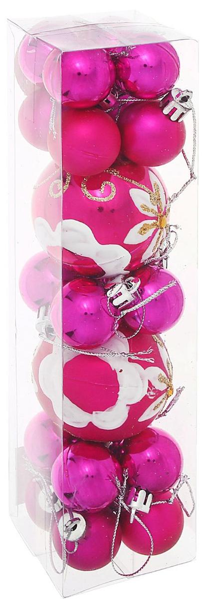 Набор новогодних подвесных украшений Sima-land Малинка, 22 шт