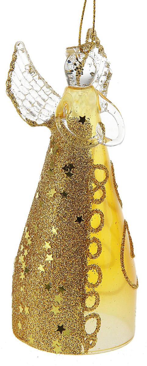 Новогоднее подвесное украшение Sima-land Ангелочек в кремовом платье, 11 х 3,5 х 5,5 см126142Новогоднее украшение Sima-land отлично подойдет для декорации вашего дома и новогодней ели. Елочная игрушка - символ Нового года. Она несет в себе волшебство и красоту праздника. Такое украшение создаст в вашем доме атмосферу праздника, веселья и радости.