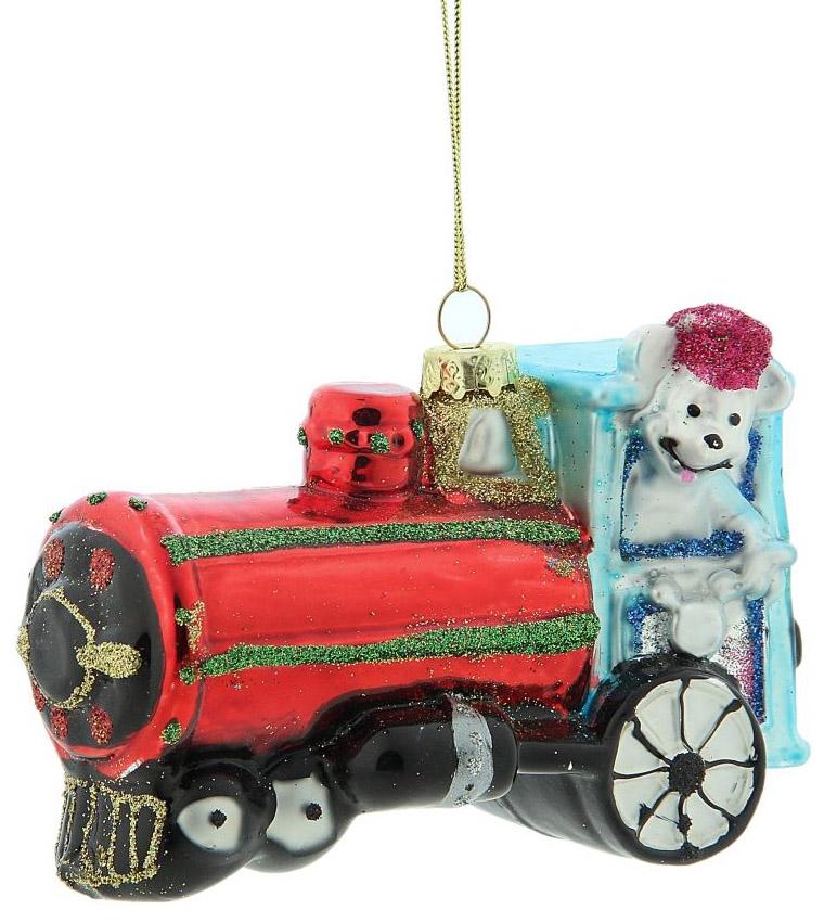 Новогоднее подвесное украшение Sima-land Мышка в паровозике, 8 х 11,9 х 5 см188144Новогоднее украшение Sima-land отлично подойдет для декорации вашего дома и новогодней ели. Елочная игрушка - символ Нового года. Она несет в себе волшебство и красоту праздника. Такое украшение создаст в вашем доме атмосферу праздника, веселья и радости.
