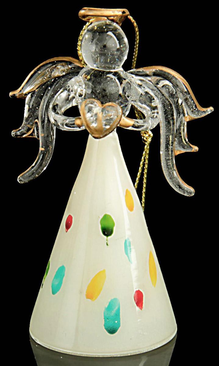 Новогоднее подвесное украшение Sima-land Ангел. Белая мозаика, 8,7 х 5 х 3,8 см188157Новогоднее украшение Sima-land отлично подойдет для декорации вашего дома и новогодней ели. Украшение оснащено специальной петелькой для подвешивания. Елочная игрушка - символ Нового года. Она несет в себе волшебство и красоту праздника. Такое украшение создаст в вашем доме атмосферу праздника, веселья и радости.