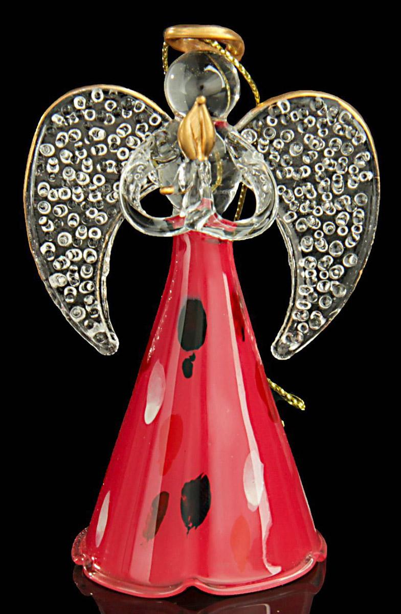 Новогоднее подвесное украшение Sima-land Ангел. Красная мозаика, 9 х 5,5 х 4 см188158Новогоднее украшение Sima-land отлично подойдет для декорации вашего дома и новогодней ели. Украшение оснащено специальной петелькой для подвешивания. Елочная игрушка - символ Нового года. Она несет в себе волшебство и красоту праздника. Такое украшение создаст в вашем доме атмосферу праздника, веселья и радости.