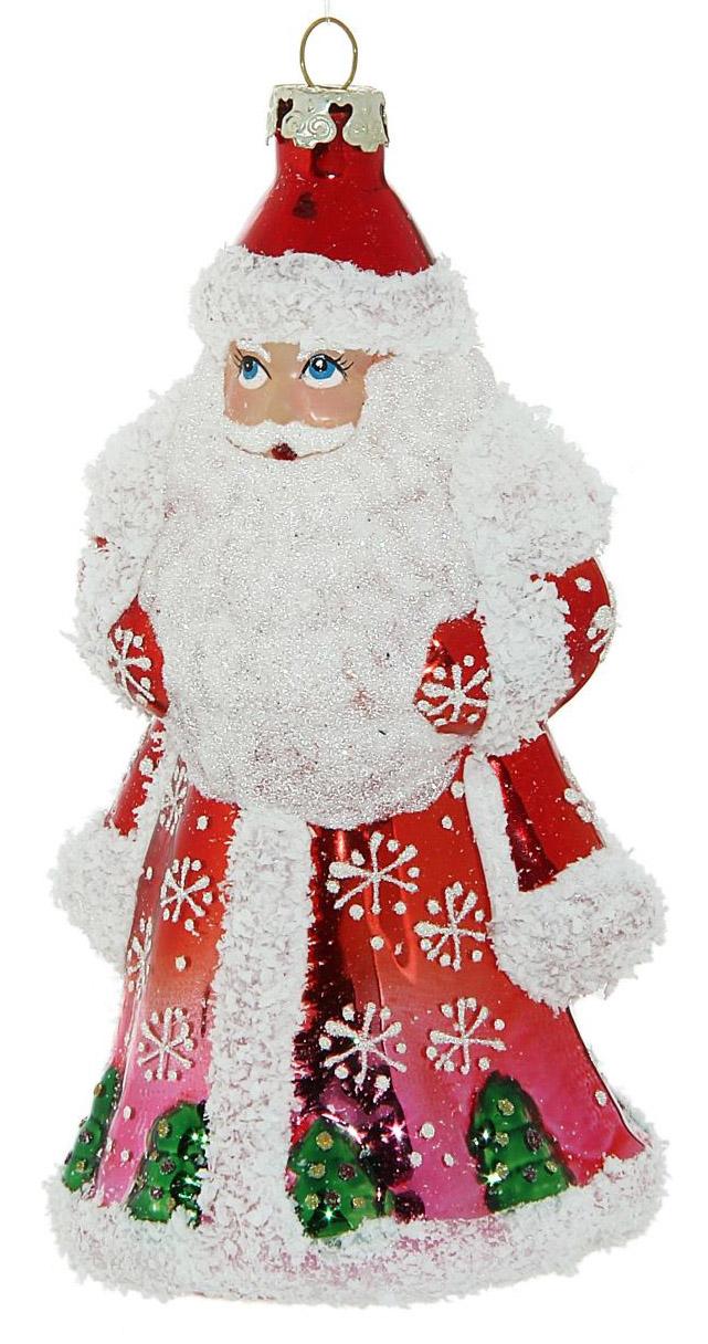 Новогоднее подвесное украшение Sima-land Дед Мороз в снежинках, 13 х 7,5 см188182Новогоднее украшение Sima-land отлично подойдет для декорации вашего дома и новогодней ели. Елочная игрушка - символ Нового года. Она несет в себе волшебство и красоту праздника. Такое украшение создаст в вашем доме атмосферу праздника, веселья и радости.