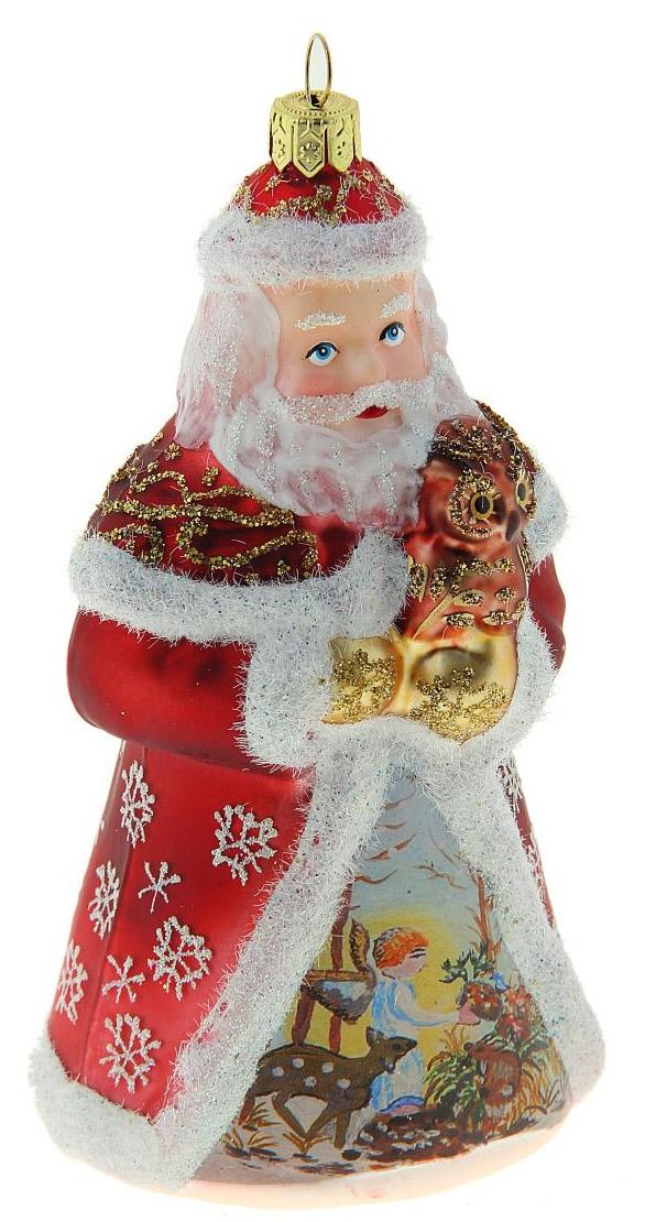 Новогоднее подвесное украшение Sima-land Дед Мороз. Роспись, ангелы, 13 х 9 см188184Новогоднее украшение Sima-land отлично подойдет для декорации вашего дома и новогодней ели. Елочная игрушка - символ Нового года. Она несет в себе волшебство и красоту праздника. Такое украшение создаст в вашем доме атмосферу праздника, веселья и радости.