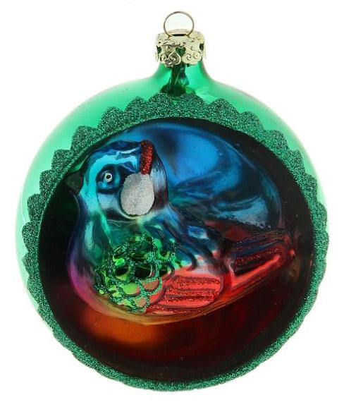 Новогоднее подвесное украшение Sima-land Снегирь в наушниках, диаметр 8 см188200Новогоднее украшение Sima-land отлично подойдет для декорации вашего дома и новогодней ели. Елочная игрушка - символ Нового года. Она несет в себе волшебство и красоту праздника. Такое украшение создаст в вашем доме атмосферу праздника, веселья и радости.