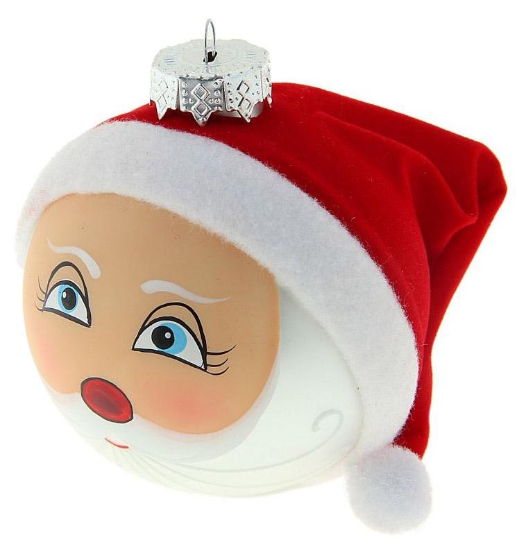 Новогоднее подвесное украшение Sima-land Дед Мороз, 7,5 х 10 см188203Новогоднее украшение Sima-land отлично подойдет для декорации вашего дома и новогодней ели. Елочная игрушка - символ Нового года. Она несет в себе волшебство и красоту праздника. Такое украшение создаст в вашем доме атмосферу праздника, веселья и радости.
