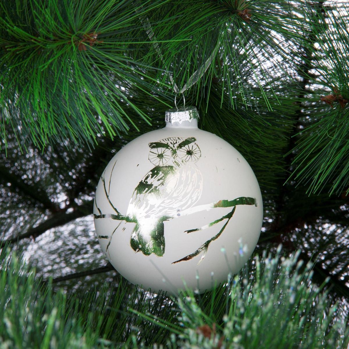 Новогоднее подвесное украшение Sima-land Зеркальный. Сова, диаметр 8 см188216Новогоднее украшение Sima-land отлично подойдет для декорации вашего дома и новогодней ели. Елочная игрушка - символ Нового года. Она несет в себе волшебство и красоту праздника. Такое украшение создаст в вашем доме атмосферу праздника, веселья и радости.