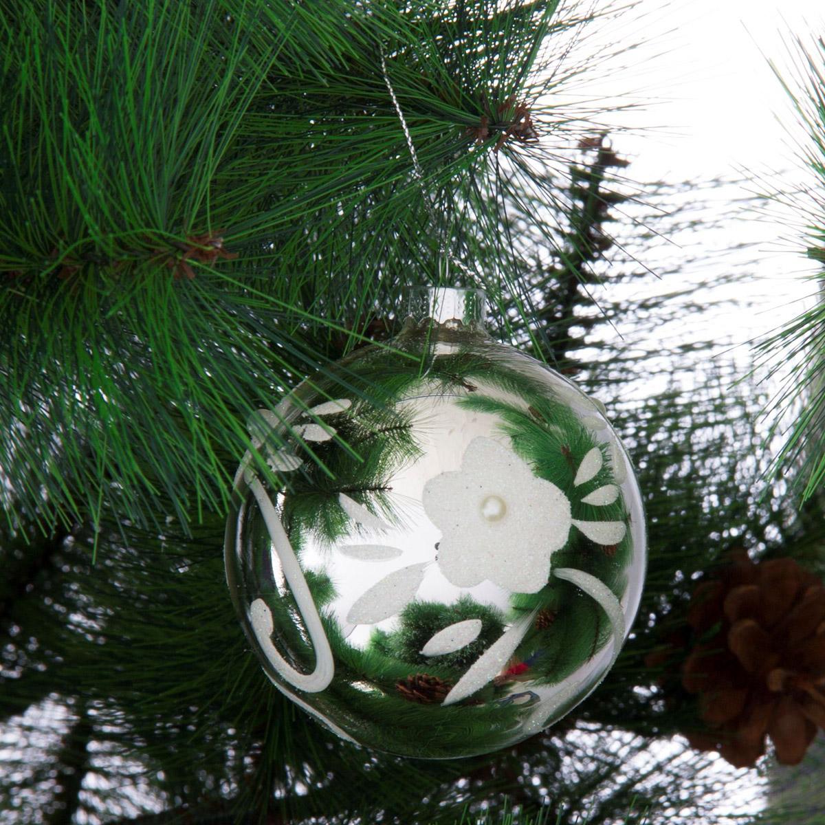 Новогоднее подвесное украшение Sima-land Цветочный всплеск, диаметр 8 см новогоднее подвесное украшение sima land счастья 185494