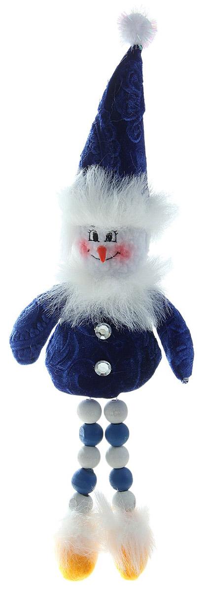 Новогоднее подвесное украшение Sima-land Снеговик, 26 х 10 см sima land антистрессовая игрушка заяц хрустик 05 цвет красный