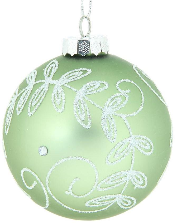Новогоднее подвесное украшение Sima-land Веточка с капельками, цвет: зеленый, диаметр 10 см334268Новогоднее украшение Sima-land отлично подойдет для декорации вашего дома и новогодней ели. Елочная игрушка - символ Нового года. Она несет в себе волшебство и красоту праздника. Такое украшение создаст в вашем доме атмосферу праздника, веселья и радости.