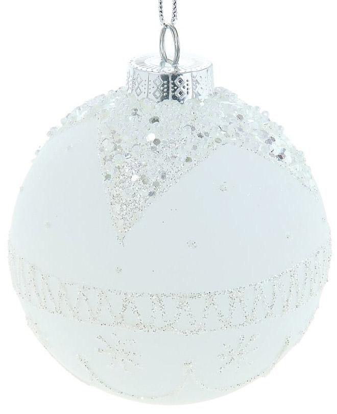 Новогоднее подвесное украшение Sima-land Белое волшебство, диаметр 10 см новогоднее подвесное украшение sima land зимний узор диаметр 8 см