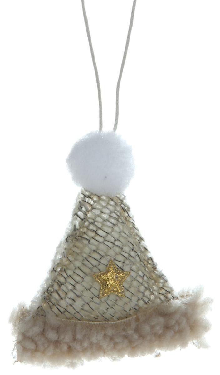 Новогоднее подвесное украшение Sima-land Шапочка с звездочкой, высота 8 см334339Новогоднее украшение Sima-land отлично подойдет для декорации вашего дома и новогодней ели. Елочная игрушка - символ Нового года. Она несет в себе волшебство и красоту праздника. Такое украшение создаст в вашем доме атмосферу праздника, веселья и радости.