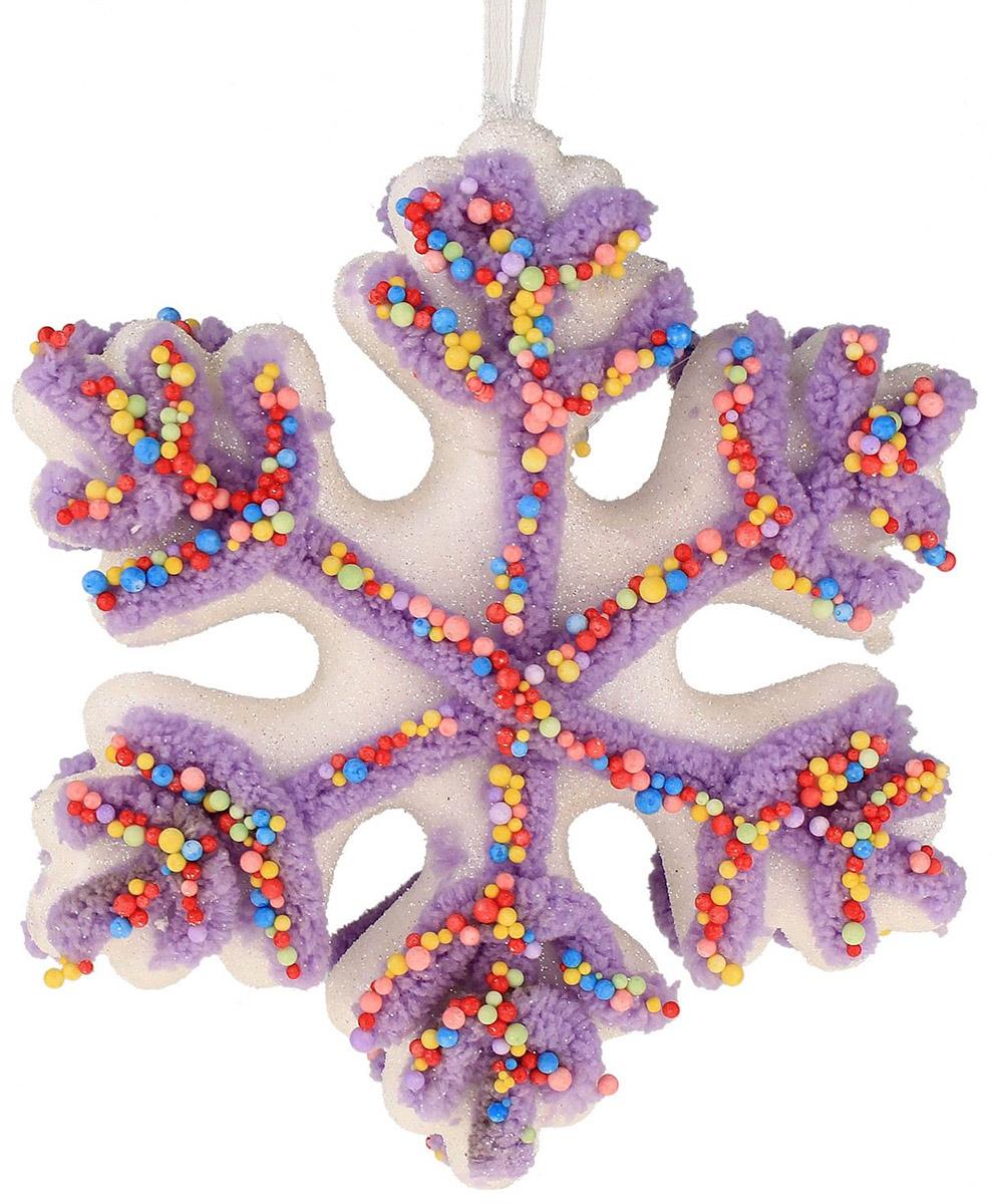 Новогоднее подвесное украшение Sima-land Воздушное снежинка, 15 х 15 см519976Новогоднее украшение Sima-land отлично подойдет для декорации вашего дома и новогодней ели. Елочная игрушка - символ Нового года. Она несет в себе волшебство и красоту праздника. Такое украшение создаст в вашем доме атмосферу праздника, веселья и радости.