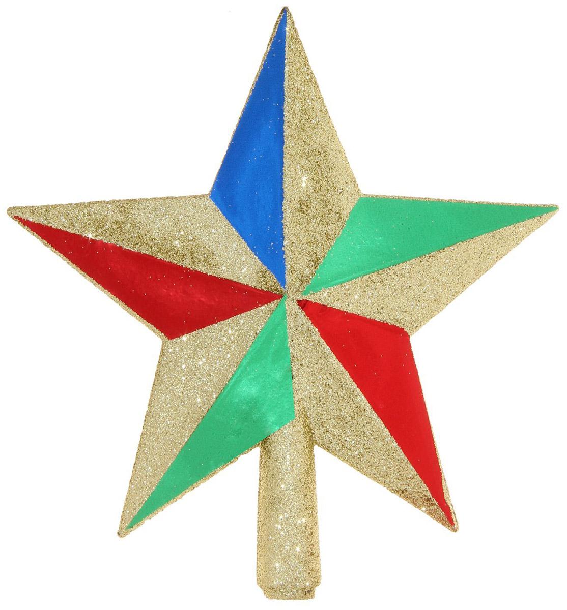Макушка на елку Sima-land Звезда, 12 см547116Невозможно представить нашу жизнь без праздников! Мы всегда ждём их и предвкушаем, обдумываем, как проведём памятный день, тщательно выбираем подарки и аксессуары, ведь именно они создают и поддерживают торжественный настрой.