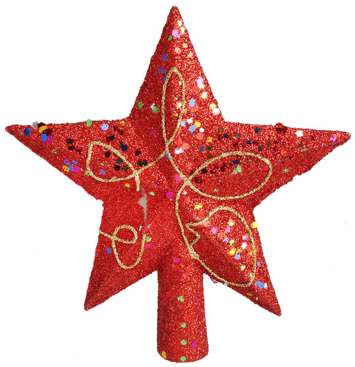 Макушка на елку Sima-land Звезда. Посыпка, узор, 12 см547117Макушка Sima-land изготовлена из пластика. Она имеет плотный корпус, поэтому не разобьется.Невозможно представить нашу жизнь без праздников! Новогодние украшения несут в себе волшебство и красоту праздника. Создайте в своем доме атмосферу тепла, веселья и радости, украшая его всей семьей.
