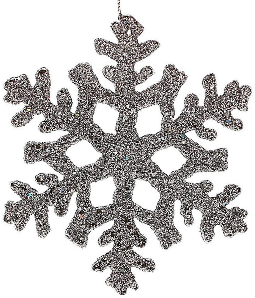 Новогоднее подвесное украшение Sima-land Снежинка, 10 см, 4 шт547192Новогоднее украшение Sima-land отлично подойдет для декорации вашего дома и новогодней ели. Украшение оснащено специальной петелькой для подвешивания. Елочная игрушка - символ Нового года. Она несет в себе волшебство и красоту праздника. Такое украшение создаст в вашем доме атмосферу праздника, веселья и радости.