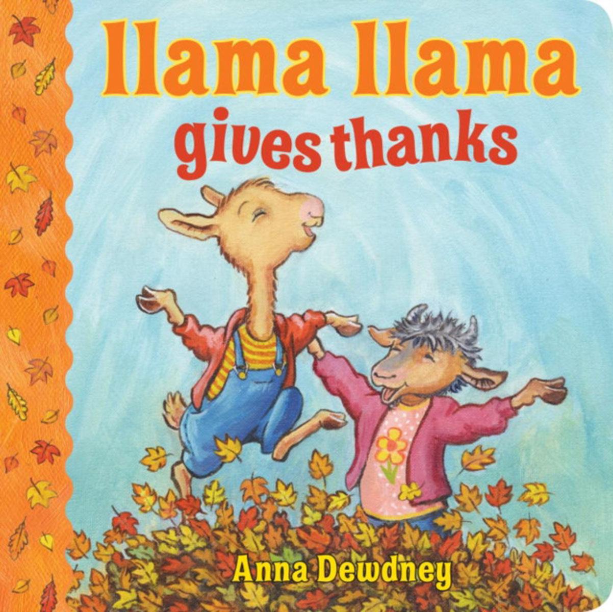 Llama Llama Gives Thanks llama and pom poms snow jackets p