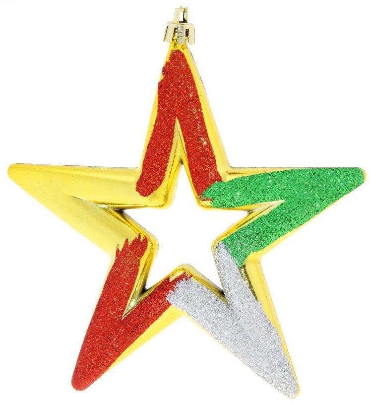 Набор новогодних подвесных украшений Sima-land Звезды, 13 см, 3 шт. 724174 кармашки на стену для бани sima land банные мелочи цвет белый 3 шт