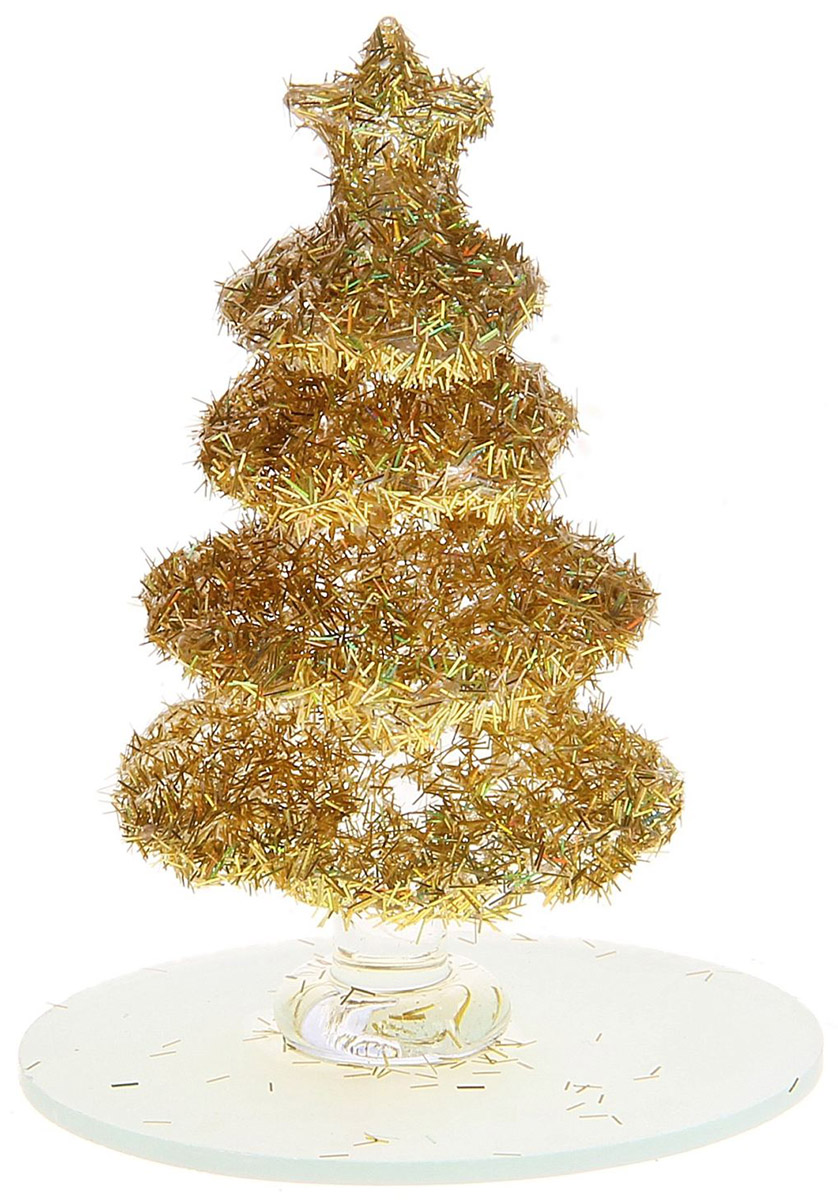Новогоднее подвесное украшение Sima-land Елочка, 8 см726646Новогоднее украшение Sima-land отлично подойдет для декорации вашего дома и новогодней ели. Елочная игрушка - символ Нового года. Она несет в себе волшебство и красоту праздника. Такое украшение создаст в вашем доме атмосферу праздника, веселья и радости.