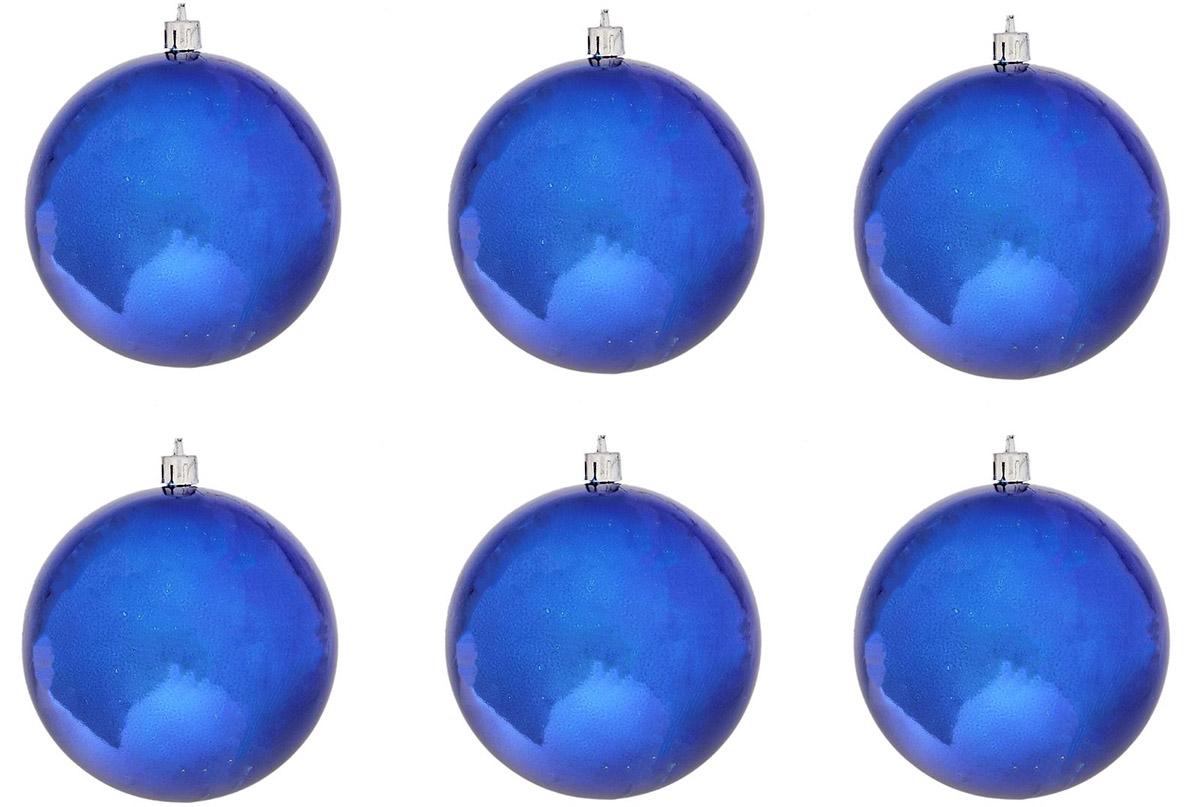 Набор новогодних подвесных украшений Sima-land, диаметр 10 см, 6 шт. 735669 свеча ароматизированная sima land лимон на подставке высота 6 см