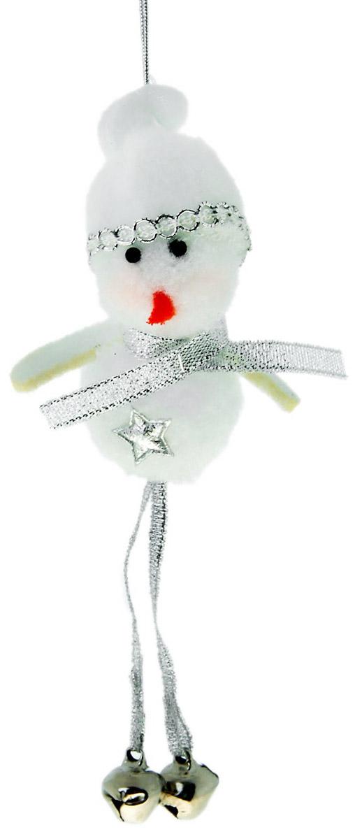Новогоднее подвесное украшение Sima-land Снеговик, высота 12 см sima land антистрессовая игрушка заяц хрустик 05 цвет красный