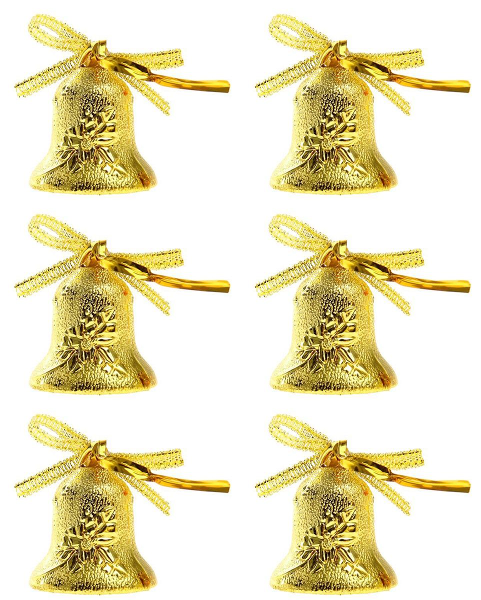 Новогоднее подвесное украшение Sima-land Колокольчики с рисунком, 3,5 см, 9 шт новогоднее декоративное украшение sima land венок колокольчики и шишки диаметр 19 см