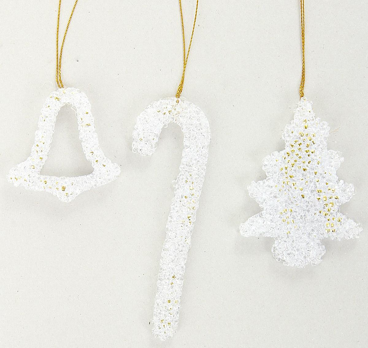 """Новогоднее украшение """"Sima-land"""" отлично подойдет для декорации вашего дома и новогодней ели. Украшение оснащено специальной петелькой для подвешивания. Елочная игрушка - символ Нового года. Она несет в себе волшебство и красоту праздника. Такое украшение создаст в вашем доме атмосферу праздника, веселья и радости."""
