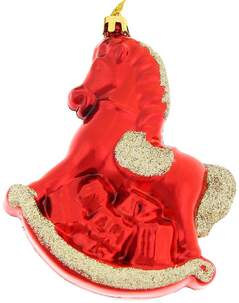 Новогоднее подвесное украшение Sima-land Конек, 10,5 х 9,5 см827171Новогоднее украшение Sima-land отлично подойдет для декорации вашего дома и новогодней ели. Елочная игрушка - символ Нового года. Она несет в себе волшебство и красоту праздника. Такое украшение создаст в вашем доме атмосферу праздника, веселья и радости.