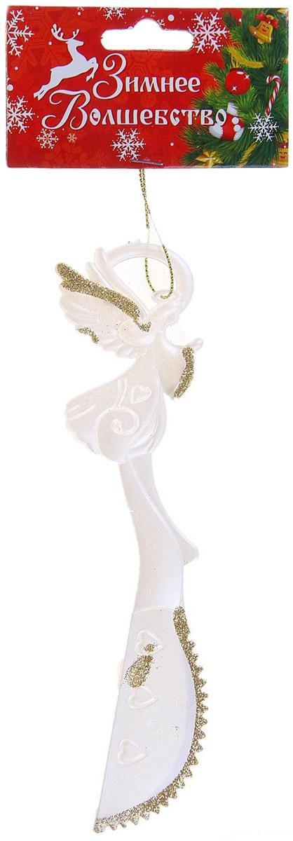 Новогоднее подвесное украшение Sima-land Ножичек, 16,5 х 4 см новогоднее подвесное украшение sima land дед мороз с елочкой цвет красный 16 х 10 см 718528